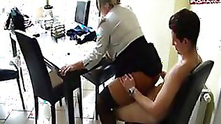 Super Busty Office Slut Fucks a Colleague on a Chair