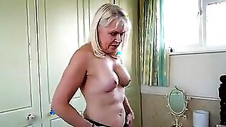 Horny Gerontophile Books Blonde Old Whore And Ask Her To Do Striptease