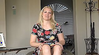 Real milf chats and strips naked