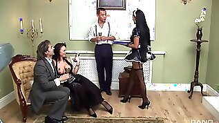 Fantastic orgy with two amazing porn godesses Elizabeth and Jasmine