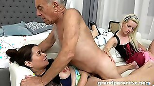 A Hotness Kinky Young Housemaid Fucks Old Old and Young