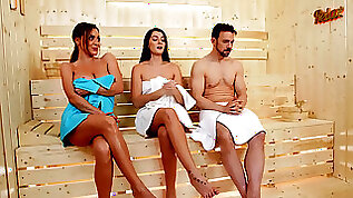 Josephine Jackson relaxes in the sauna with married man